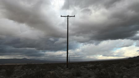 faks : Time lapse of a Telephone Pole in the Mojave Desert.