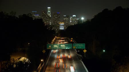 área de trabalho : Time Lapse of Downtown Los Angeles with Traffic Stock Footage