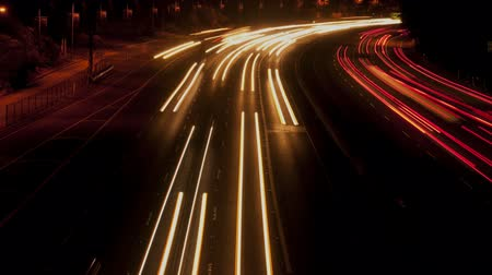 csík : Time Lapse of Busy Los Angeles Freeway at Night