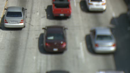 havai : Tilt Shift of Heavy Traffic in Los Angeles. Stok Video