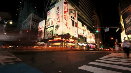 negozi : NYC Times Square Time lapse