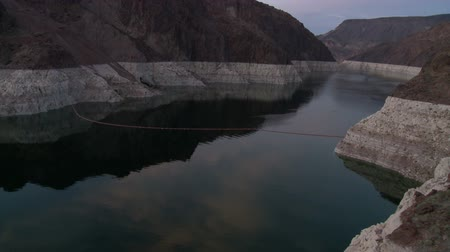 nevada : Time Lapse of Hoover Dam Reservoir - Day to Night