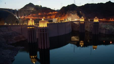 nevada : Time Lapse of Hoover Dam -  Day to Night Stock Footage
