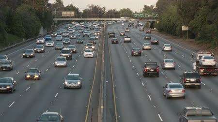 auto estrada : Time Lapse of Los Angeles Freeway Traffic