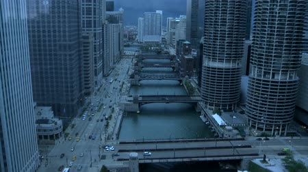 tempestade : Rain Storm blowing into Chicago