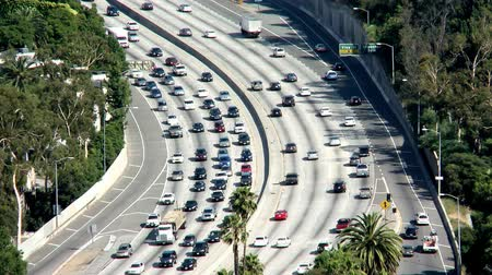 auto estrada : California Freeway Traffic - Time Lapse