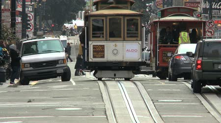 kabel : Time lapse of San Francisco Cable Cars Wideo