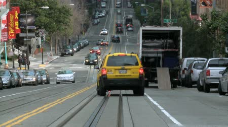 kabel : Time Lapse of Traffic on San Francisco Hill Wideo