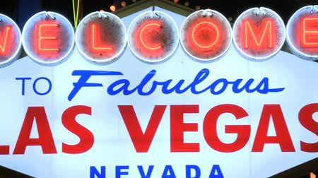 Welcome to Las Vegas Neon Sign Stock mozgókép