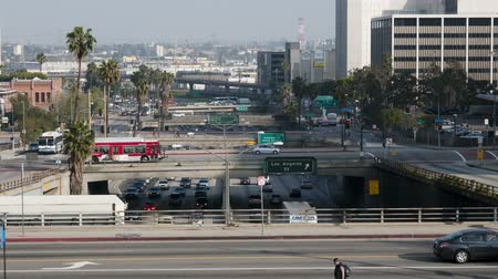 verkeersbord : Time-lapse van Viaduct over de 101 Freeway in Downtown Los Angeles