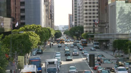 busy line : Time Lapse of Busy City Street in Downtown Los Angeles.  Daytime