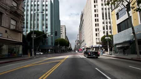 aparat : Car Mounted Camera Driving on Downtown Los Angeles Time Lapse Wideo