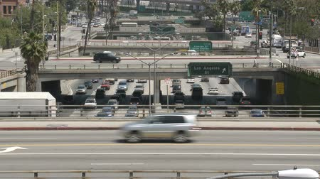 samochody : Time Lapse of Busy Downtown Freeway - Los Angeles Wideo