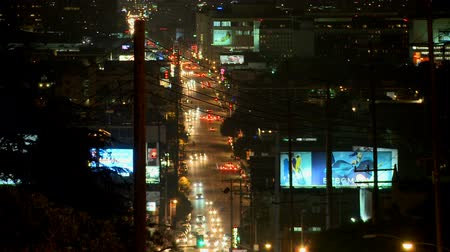 samochody : Busy Urban Hollywood Traffic - Time Lapse Wideo