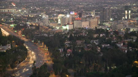 gün : Day to Night Timelapse of Hollywood  Los Angeles Stok Video