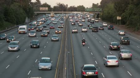 fari : Time Lapse di Los Angeles Freeway Traffic Filmati Stock