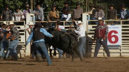 секунды : Rodeo Cowboys - Bull Riding in Slow Motion