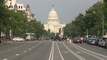 car traffic : Capital Building Traffic Time Lapse