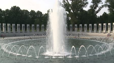 war : World War II Memorial Stock Footage