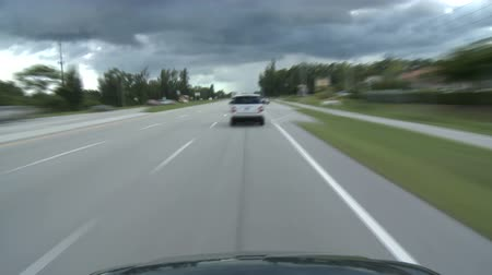 snelwegen : Tropische Driving - Roof Mounted Car Cam Stockvideo