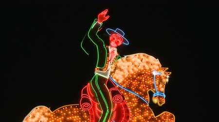 registrati : Cowboy Neon Sign in Las Vegas