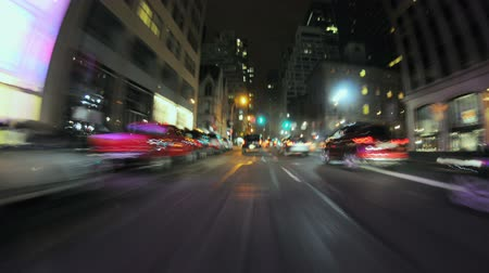 encruzilhada : Big City Driving Night - Time Lapse