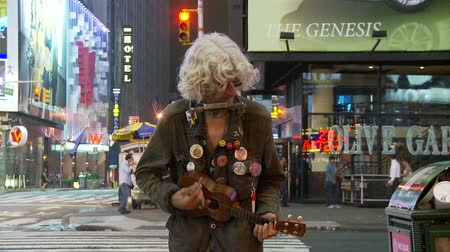hippie : Times Square Straatartiest
