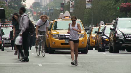 cyclists : Manhattan Traffic and People