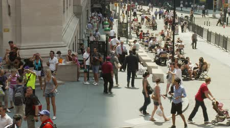 rua : Crowds on Wall Street NYC - Time Lapse Vídeos