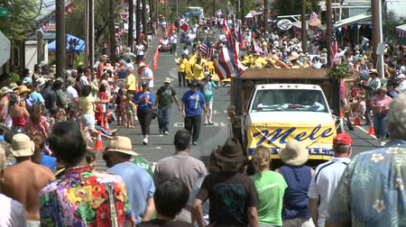 desfile : 8th of july Parade - Time Lapse Stock Footage
