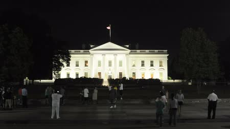 governo : The White House at Night Vídeos
