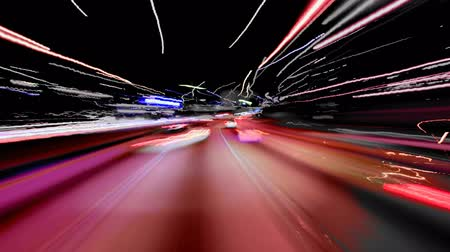 warp : Experimental driving clip Stock Footage