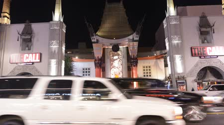 tiyatro : Famous Chinese Theater Hollywood California Stok Video