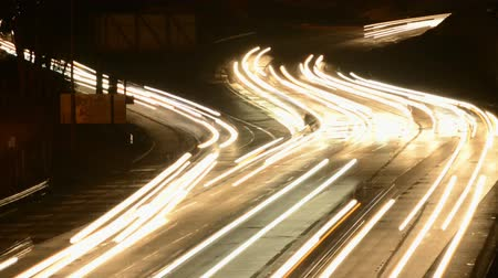 busy line : Busy Los Angeles Freeway at Night Stock Footage