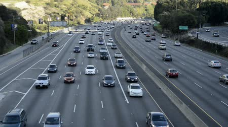 jam : Overhead View of Traffic in Los Angeles Stock Footage