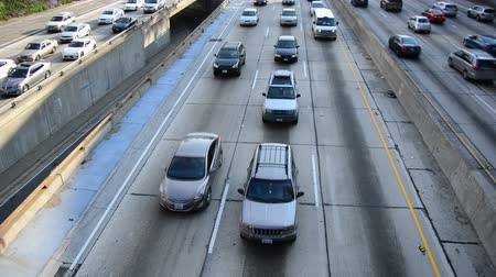 havai : Busy Harbor Freeway in Downtown Los Angeles