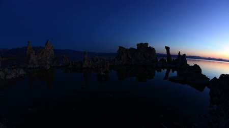 sea monkeys : Tufa Formation on Scenic Mono Lake California at Sunrise - Time Lapse -  4K -  4096x2304