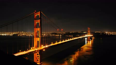 goldene : Zeitraffer - Golden Gate Bridge at Night - 4K - 4096x2304