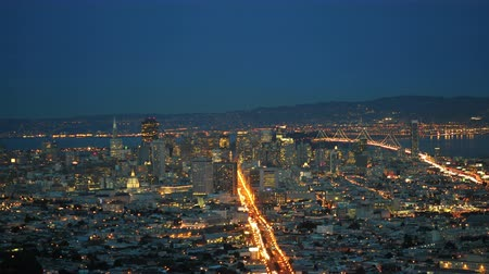 veicolo : Time Lapse di San Francisco in the Evening - 4k