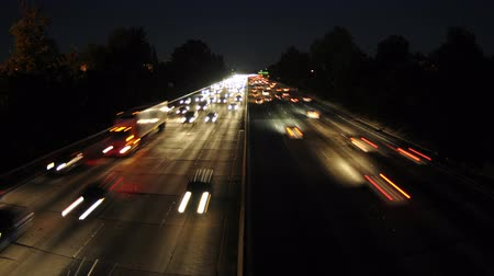 fari : Time Lapse di Freeway Occupato A Los Angeles - 4K - 4096x2304