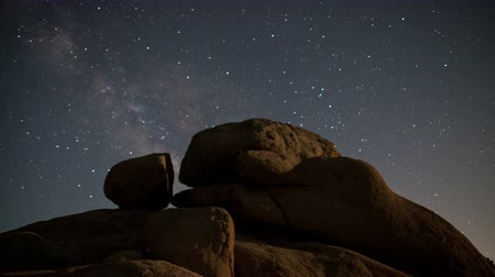 wanderweg : Zeitraffer von Joshua Tree at Night - 4K - 4096x2304