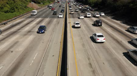 indústria : Time Lapse of Busy Freeway In Los Angeles - 4K - 4096x2304 Stock Footage