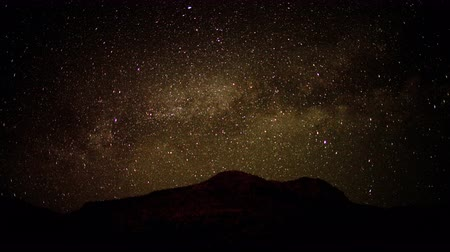crescimento : Time Lapse of Stars in the Mojave Desert -  4K Stock Footage