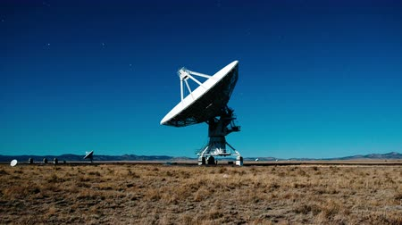 nouvelle technologie : Very Large Array radio-observatoires - Time Lapse - 4k