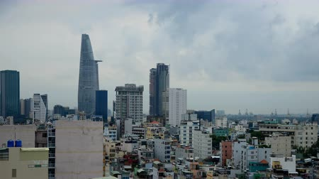 vietnamec : Time Lapse of Rain Clouds and Shadows Passing Over Ho Chi Minh City Saigon