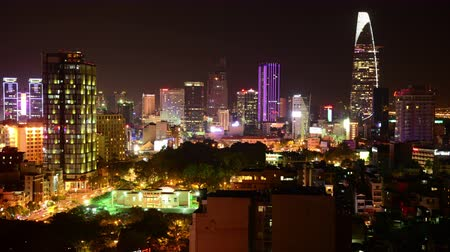 vietnamec : Time Lapse of Ho Chi Minh City at Night Saigon