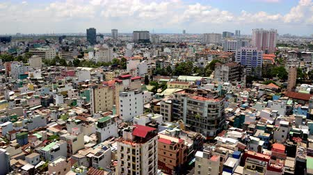 southeast : Time Lapse of Clouds and Shadows Passing over Ho Chi Minh City Saigon
