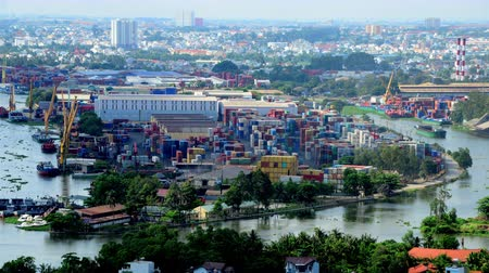 vietnamec : Time Lapse of Shadows Passing over Shipping Port in Ho Chi Minh City Dostupné videozáznamy