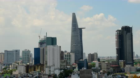 vietnamec : Time Lapse of Clouds and Shadows Passing over Ho Chi Minh City Saigon