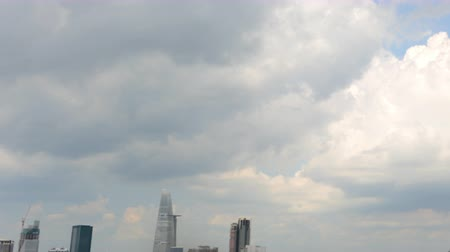 southeast : Time Lapse Pan of Skyline to Clouds - Ho Chi Minh City Vietnam